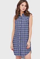 Жіноче синє плаття-сорочка без рукавів Oris