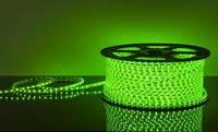 Светодиодная лента зеленая 2835smd 220V IP67 120 led герметичная