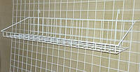 Корзина на сетку (90x10 см. Низкий борт, белая)