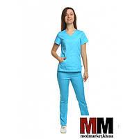 Медицинский костюм Сидней голубой