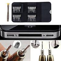 Набор для ремонта мобильных телефонов, мелкой техники (фотоапаратов, планшетов, навигаторов)25 шт в чехле