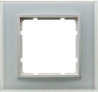 Рамка 1- пост. стекло полярная белизна Berker B.7