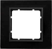Рамка 1- пост. стекло чёрное Berker B.7