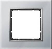 Рамка 1- пост. стекло алюминий Berker B.7