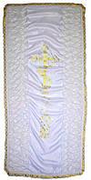 Покрывало ритуальное шелк бант, фото 1