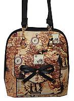 Рюкзак-сумка для девочки 1188 карта бантик карман