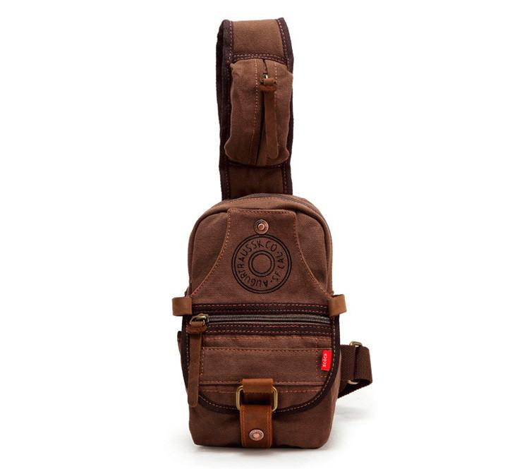 Небольшой рюкзак на одно плечо Augur   коричневый