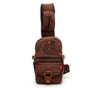 Небольшой рюкзак на одно плечо Augur   коричневый, фото 1