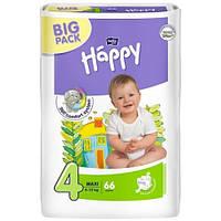 Подгузники HAPPY 4 Maxi (8-18кг) 66 шт