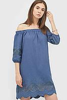 Літнє лляне синє плаття з візерунками Mirena