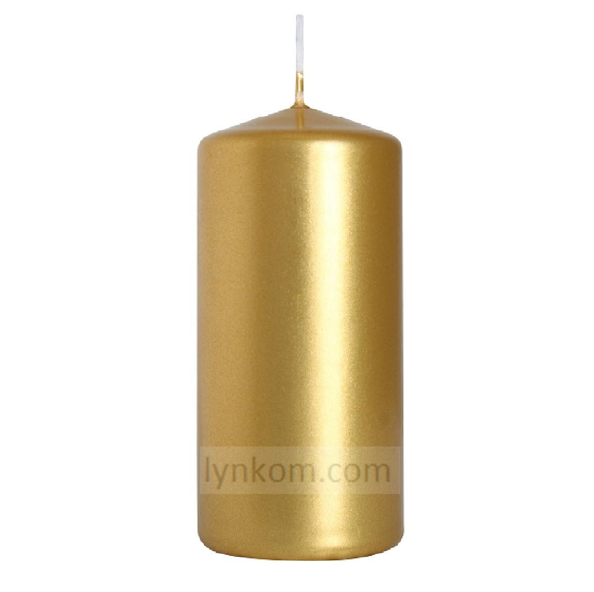 Свеча золотая  5х10 см