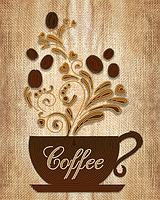 Схема на ткани для вышивания бисером Кофе