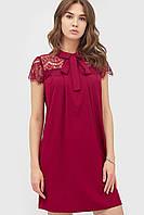 Жіноче бордове коктейльне плаття Stron