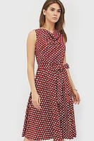 Жіноче бордове плаття в горошок Raily