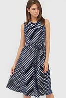 Жіноче синє плаття в горошок Raily
