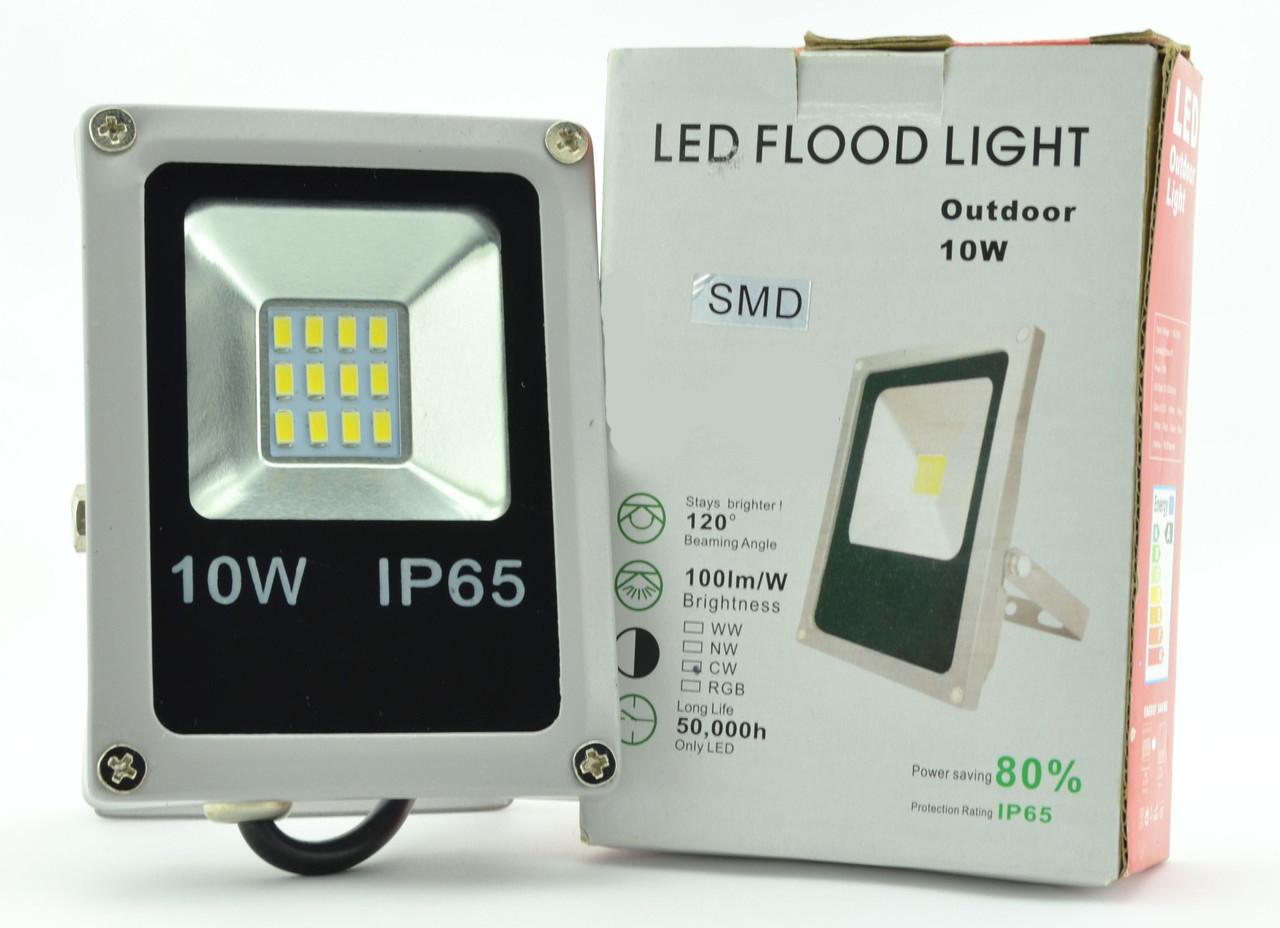 Светодиодный прожектор 10W SMD 5730 Теплый белый СВДТ