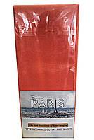 1Трикотажная простынь на резинке + наволочки (Bonjour Paris) ART OF SULTANA № Трикотаж на резинке-персик