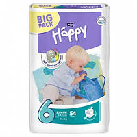 Подгузники HAPPY 6 Junior Extra (16+кг) 54 шт