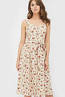 Жіноче бежеве квіткове плаття Iza
