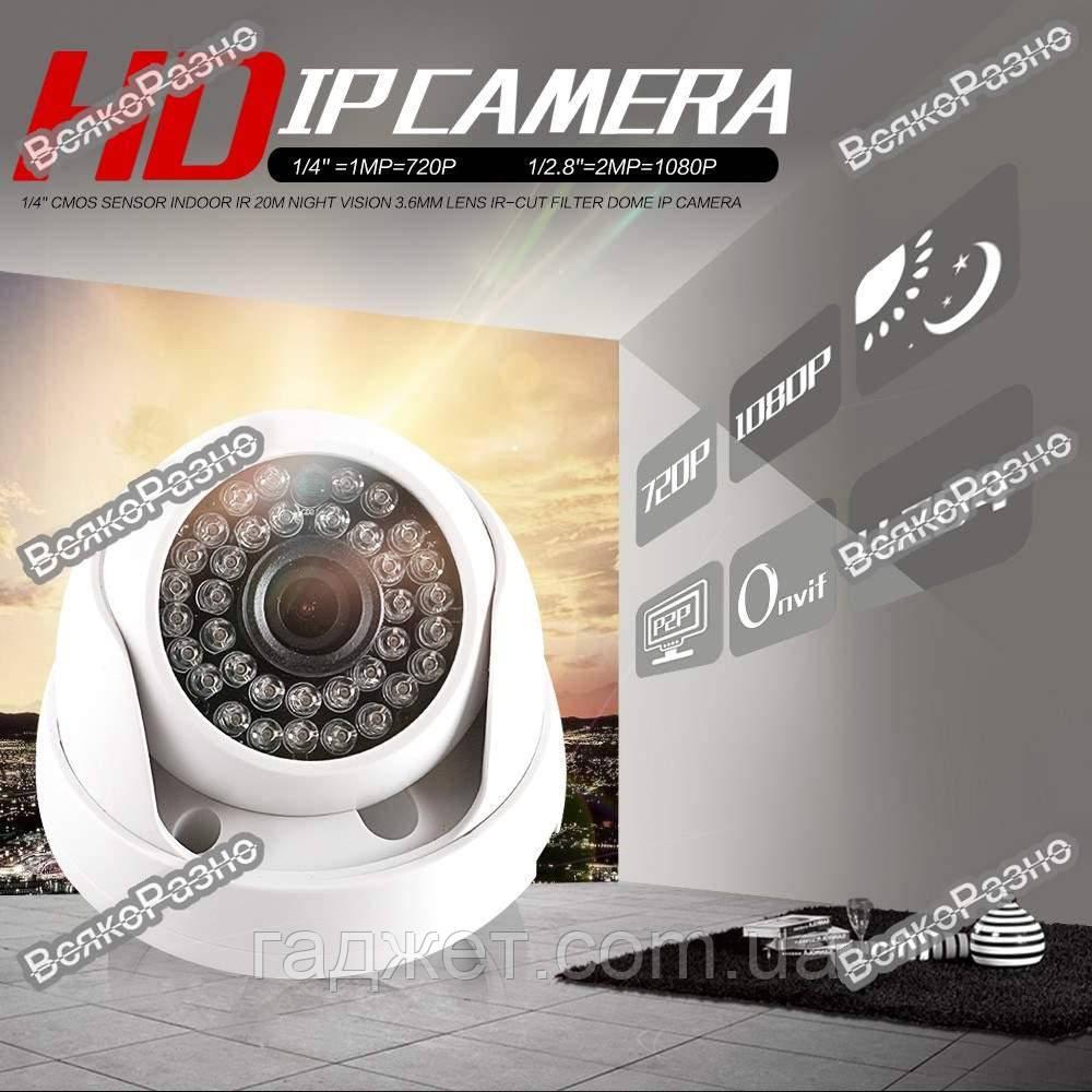Камера видео наблюдения купольная / IP камера видео наблюдения