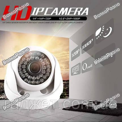 Камера видео наблюдения купольная / IP камера видео наблюдения, фото 2