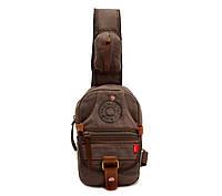 Небольшой рюкзак на одно плечо Augur   хаки