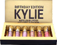 Набор Помады – Kylie Birthday Edition-супер устойчивые к поцелуям!