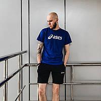 Летний комплект мужской Asics (футболка+шорты)