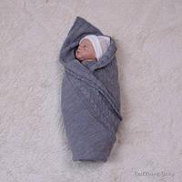 Летний вязаный конверт-покрывало для новорожденных, Глория