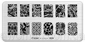 Пластина для стемпинга  Cooi-003