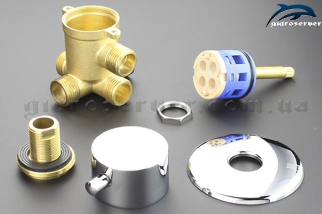 Кран-переключатель для душевых кабин, гидробоксов PG-04 с соединениями 1/2 дюйма под резьбу.