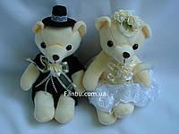"""Мягкая игрушка для букетов """"свадебная пара мишек""""(1 комплект жених+невеста мишек)"""