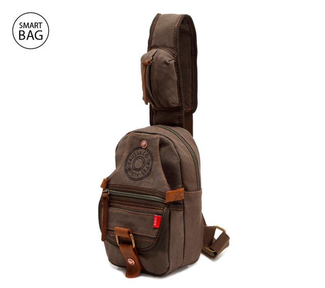 Небольшой рюкзак на одно плечо Augur | хаки