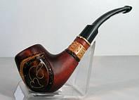 Курительная трубка ручной работы с узором, инкрустация и гравировка