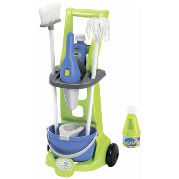 Тележка для уборки с пылесосом 8 аксессуаров Ecoiffier