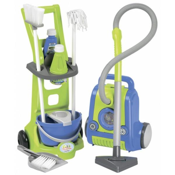 Тележка для уборки с пылесосом 10 аксессуаров Ecoiffier