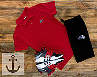 Спортивный костюм Lacoste + Fila 🔥 (Лакост Фила) красный с черным