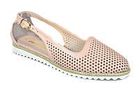 Летние женские кожаные туфли мокасины Evromoda размеры 33-42