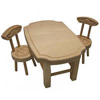 Мебель для кукол из масива бука(стол+стул(2шт)), стол 26*18*14см, произ-во Украина(172076)