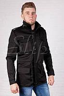 Модная мужская, дизайнерская куртка из хлопковой ткани утепленная флисом