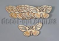 Бабочки резные деревянные арт.2 55х30мм/1шт