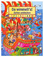 Развивающая детская книга Виммельбух Пираты, Учи цифры с пиратами, 2+
