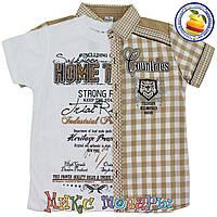 Двойка Рубашка и футболка для мальчика Размеры: 134 и 152 см (4334-1)