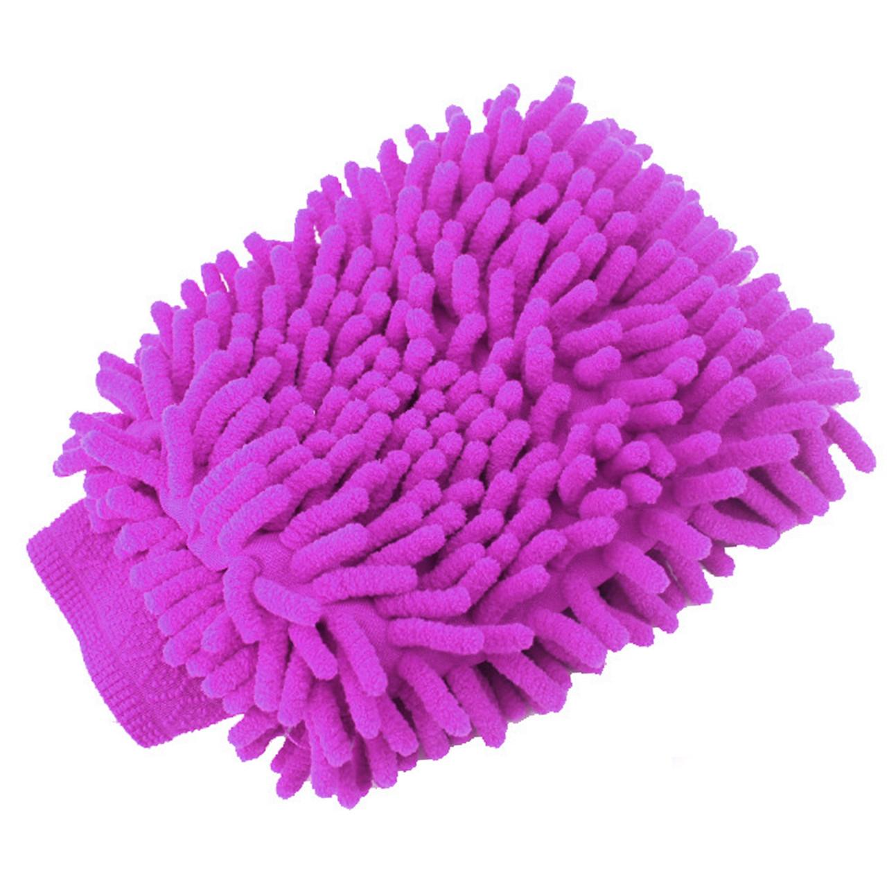 Рукавица Lesko 45-2A/008 розовая для влажной сухой уборки и мойки автомобиля кухни комнаты универсальная