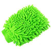 Универсальная рукавица Lesko 45-2A/008 зеленая для влажной сухой уборки и мойки автомобиля кухни комнаты