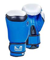 Перчатки боксерские кожаные BAD BOY CLASSIC 12 oz синий