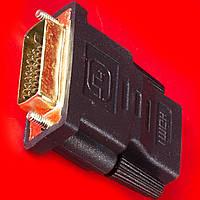 Универсальный переходник Lesko DVI-HDMI для монитора компьютера видеокарта разьем адаптер