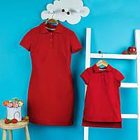 Family look комплект платья поло мама+дочка
