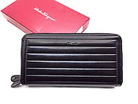 Мужской кошелек Salvatore Ferragamo (F-7120) black leather