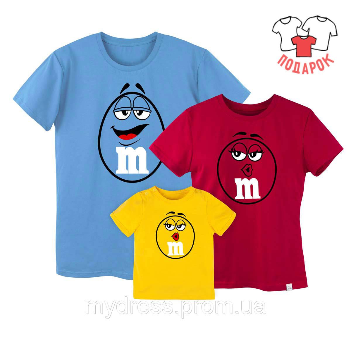 Family look комплект футболок для всей семьи Candy